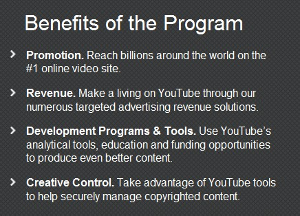 youtube partner program benefits