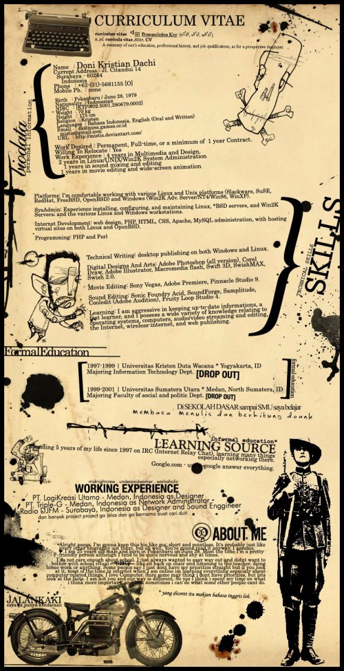 mindblowing vintage resume