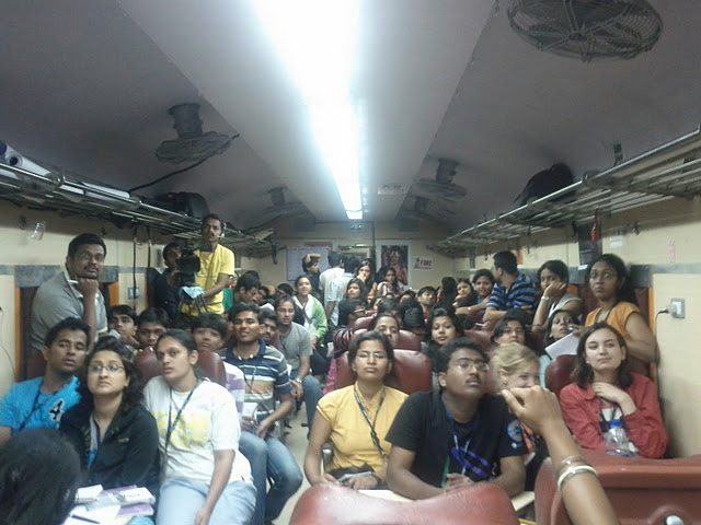 jagriti yatra Evening chair car session