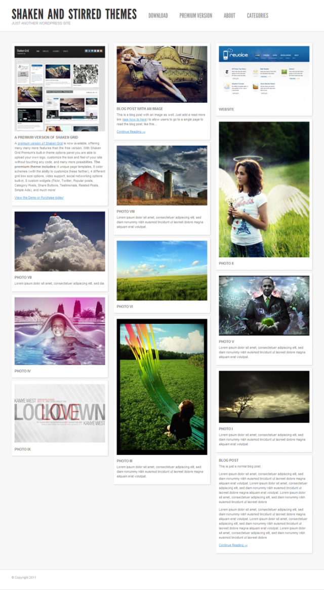 shaken grid Free Premiun WordPress Magazine Themes