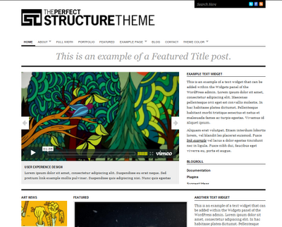 perfect structure Free Premiun WordPress Magazine Themes