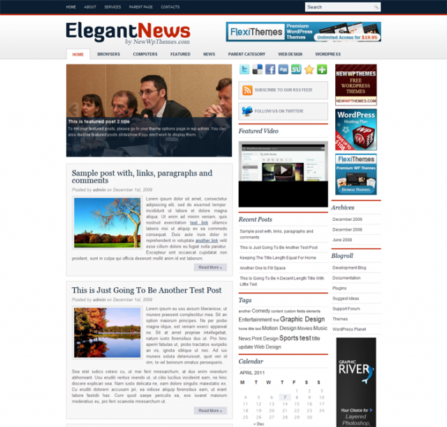 elegant news Free Premiun WordPress Magazine Themes