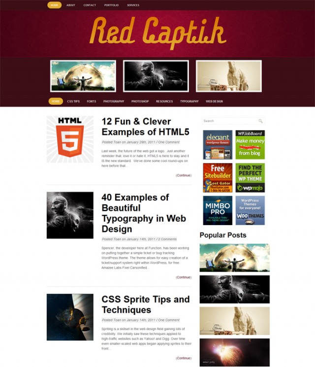 red captik Free Premiun WordPress Magazine Themes