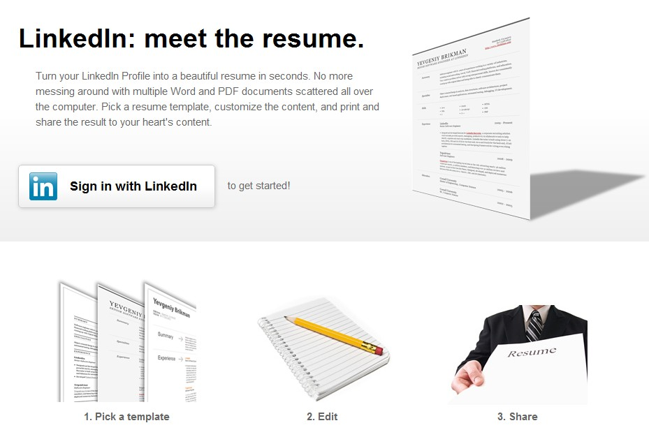 3 tools to build a great resume from your linkedin profile