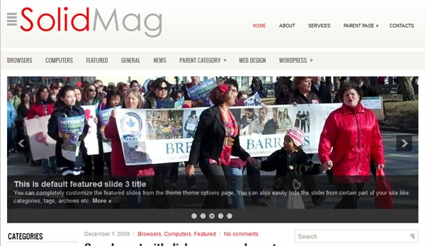 solidmag Free Premiun WordPress Magazine Themes