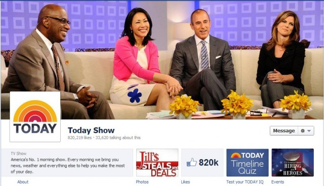 facebook timeline pages today show