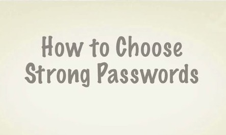 how to choose strong passwords