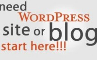 install wordpress blog or website
