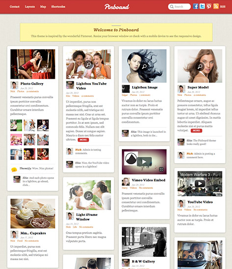 pinboard-wordpress theme