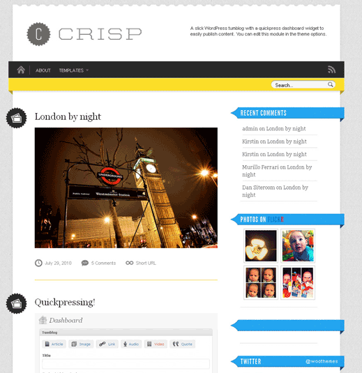 Crisp-Tumblr Like-Wordpress-Theme