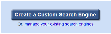 create Google Custom Search  Engine