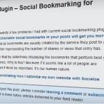 socialize plugin