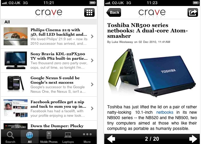 crave iphone app