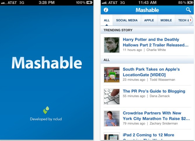 mashable iphone app