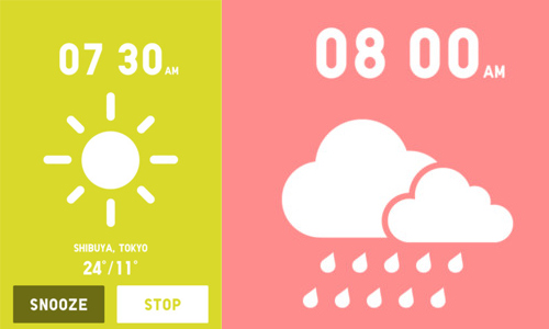 uniqlo-alarm app for iphone and android
