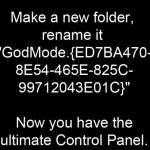 Ultimate Control Panel GodMode In Windows