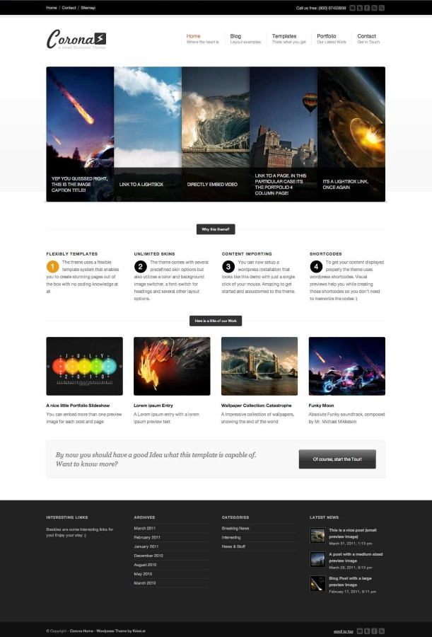 Corona Business and Portfolio WordPress Theme