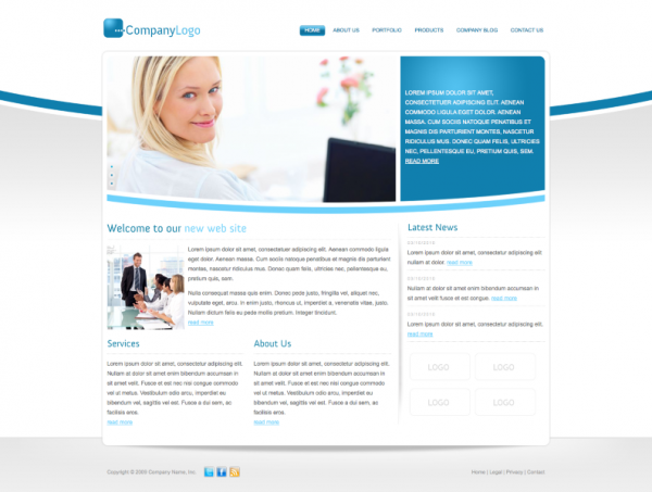Corporate Portfolio WordPress Theme