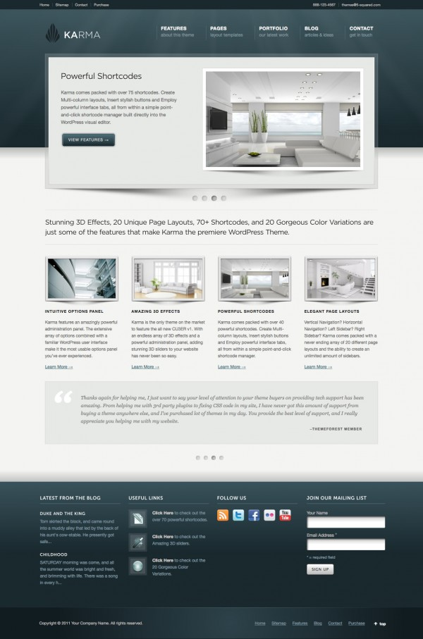 Karma Business WordPress Theme