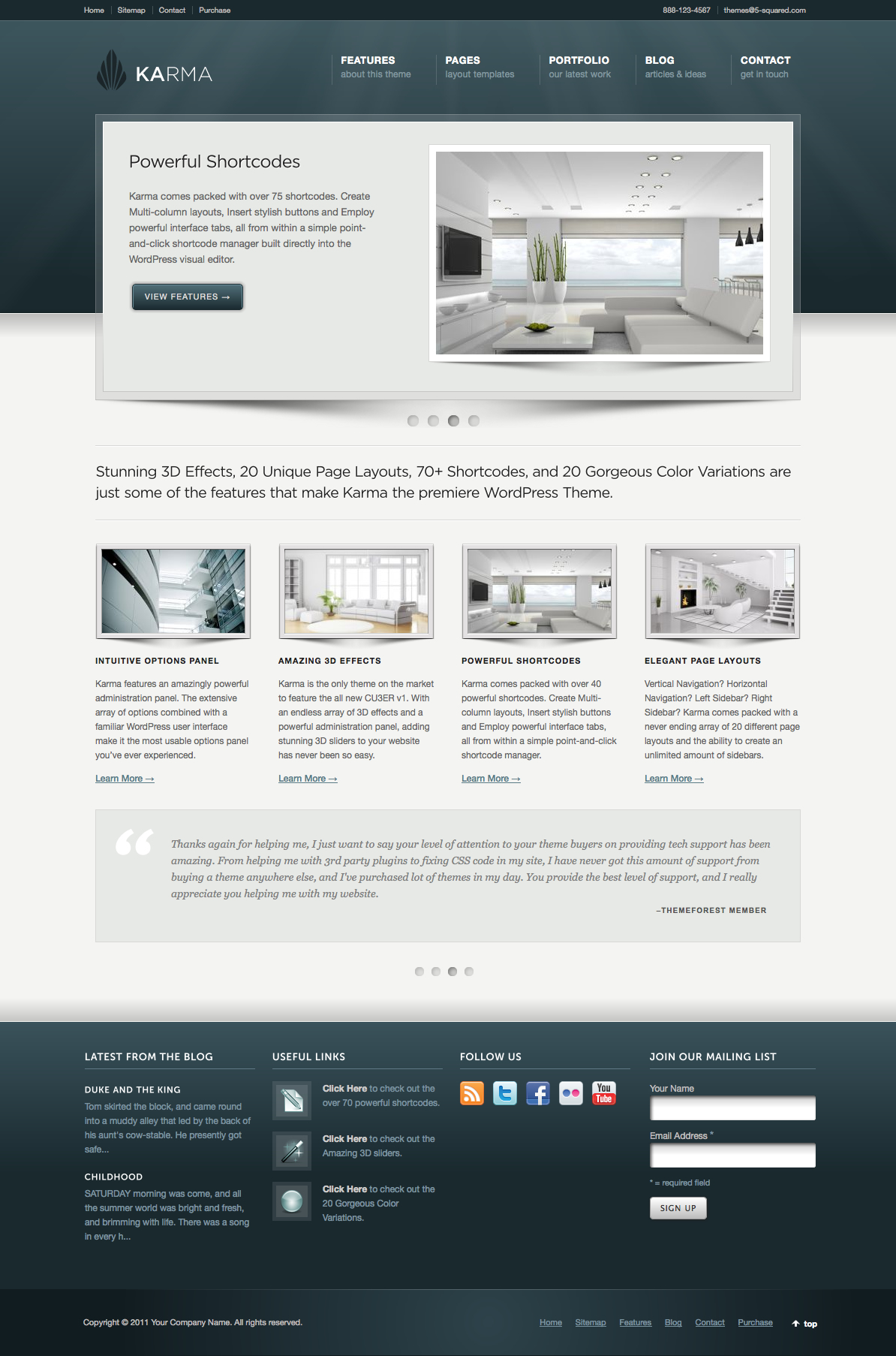 Best 15 Free and Premium Business/Corporate WordPress Themes | Youngblah