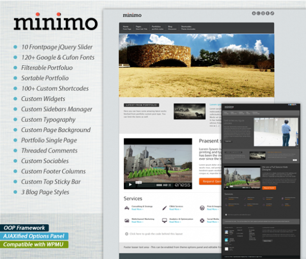 Minimo Corporate Portfolio WordPress Theme