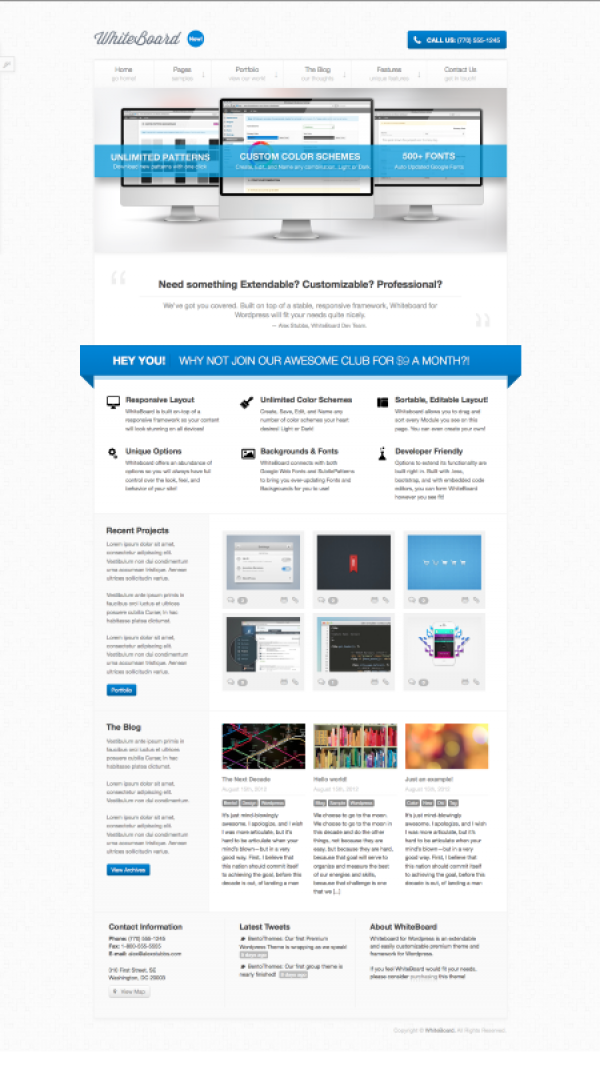 WhiteBoard Corporate WP Theme