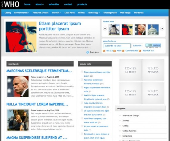 WhosWho Elegant WordPress Theme