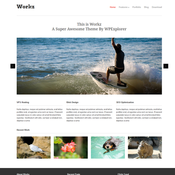 Workz Free Business WordPress Theme