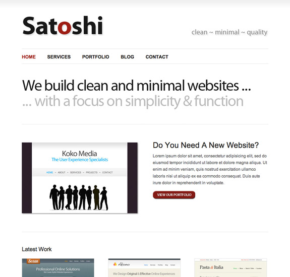 Satoshi Free Corporate WP Theme