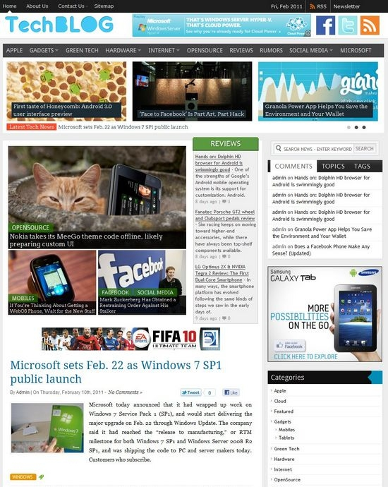 Techblog WordPress Theme